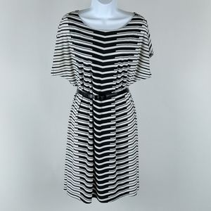 Apt.9 black and white sheath dress size large
